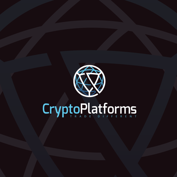 Trade design with the title 'Company that provides innovative cryptocurrencies trading platforms (B2B)'
