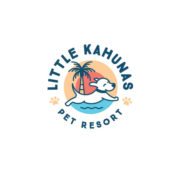 Tropical logo with the title 'Logo for dog daycare and boarding resort'
