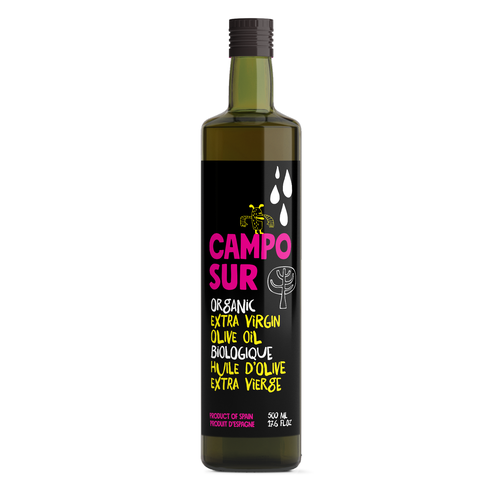 Olive oil label with the title 'Create a modern new label for our organic olive oil'