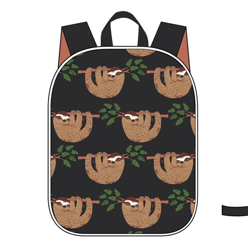 Boy design with the title 'Back pack design for boys with sloth'