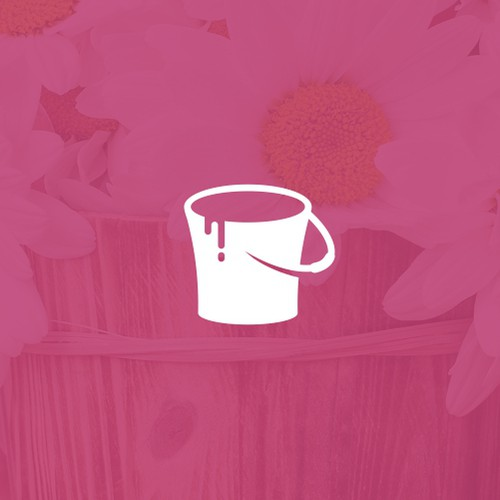 Bucket design with the title 'The Pink Bucket'