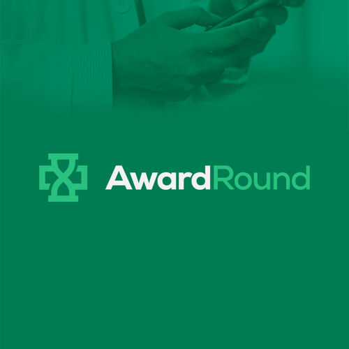 Hourglass logo with the title 'AwardRound'