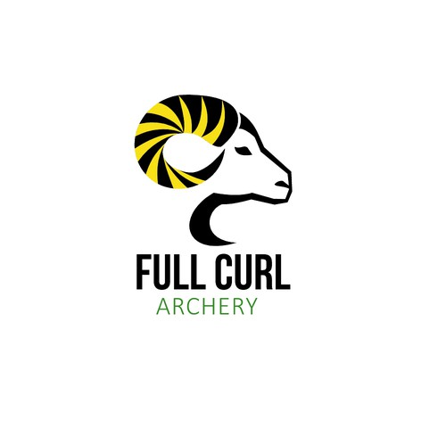 Ram logo with the title 'Full Curl Archery'