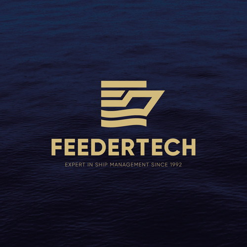 Logistics design with the title 'Logo concept for FEEDERTECH'