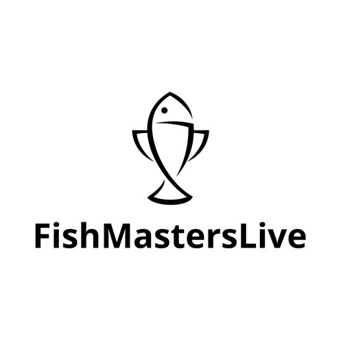 Achievement logo with the title 'Logo Design for FishMastersLive'