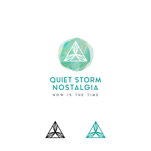 Yoga studio design with the title 'Quiet Storm Nostalgia logo for brand providing outdoor & sports goods as well as lifestyle apparel'