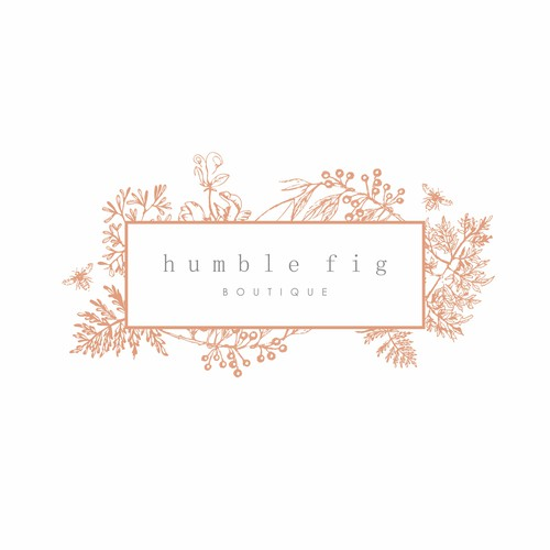 Flower shop design with the title 'Humble Fig '
