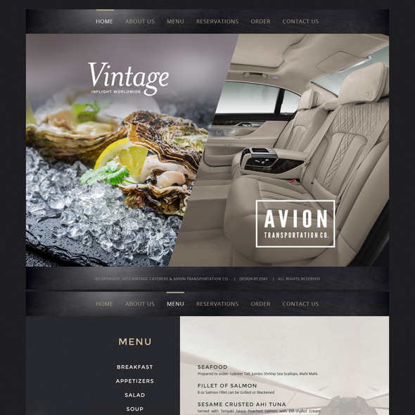 Order design with the title 'AVION'