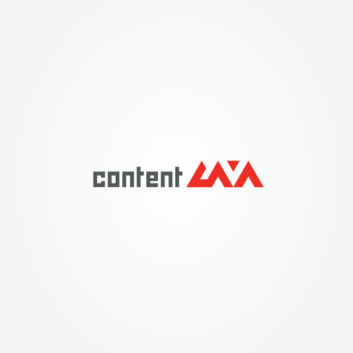 Lava design with the title 'ContentLava Logo'