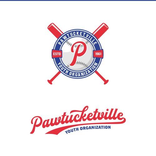 Softball design with the title 'Logo of Youth Baseball/Softball Community'