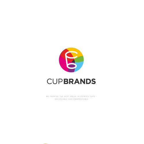 Printing logo with the title 'Cup Brands Logo'