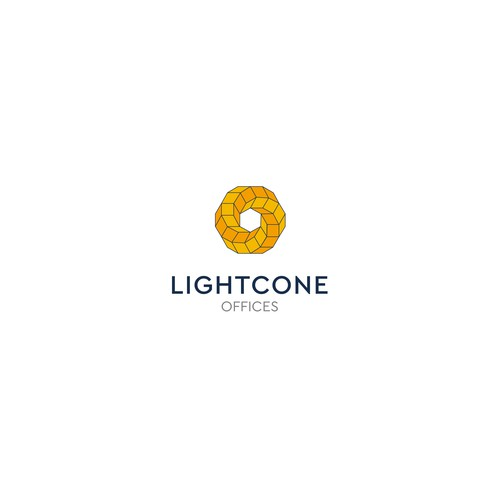 Sci-fi logo with the title 'Science Related LightCone Logo'