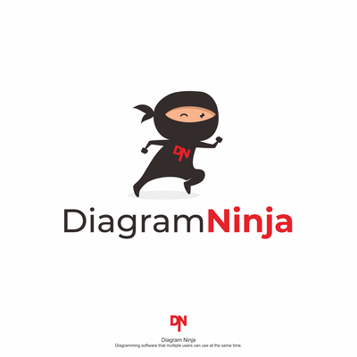 Playful Diagram Ninja Logo Available for Sale