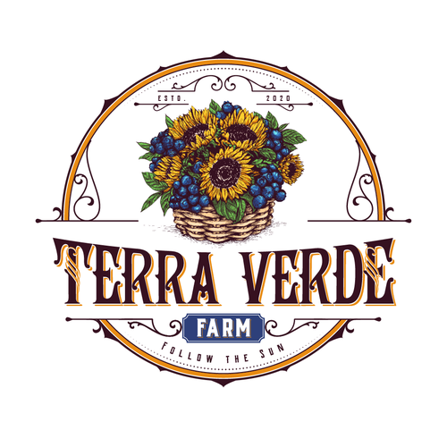 Blueberry logo with the title 'Terra Verde Farm'
