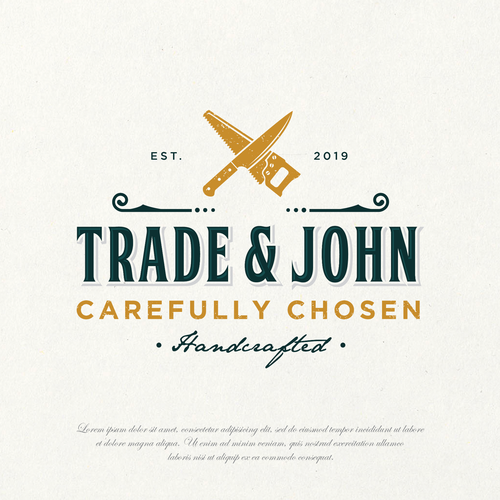 Kitchen brand with the title 'Trade and John'