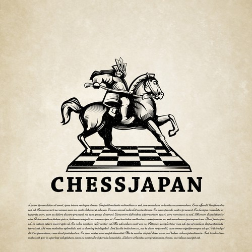 Table design with the title 'Chess Japan'