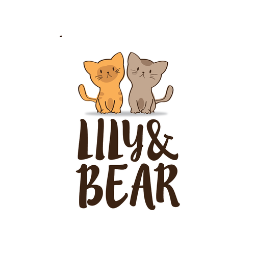 Dog and cat logo with the title 'Lily&Bear'