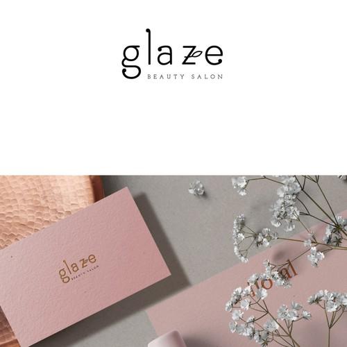 Beauty salon logo with the title 'Glaze beauty salon'