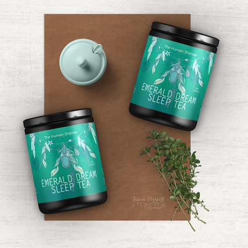 Professional packaging with the title ' Bedtime Tea Label'