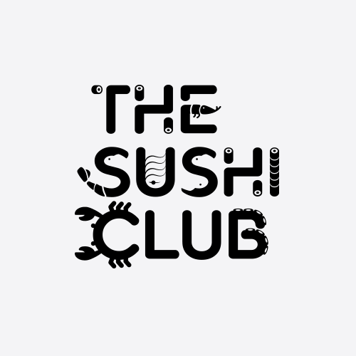 Sushi design with the title 'The sushi club'
