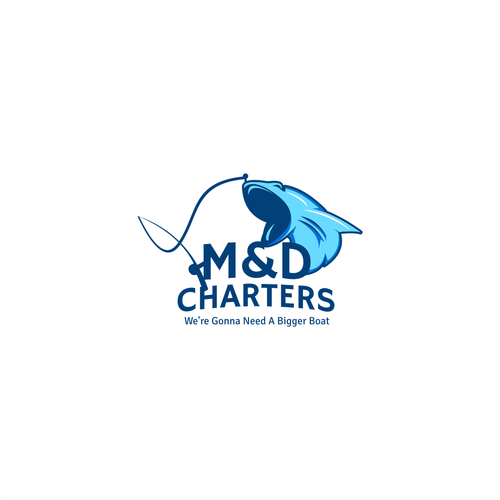 Tuna logo with the title 'Charters Ship Logo'