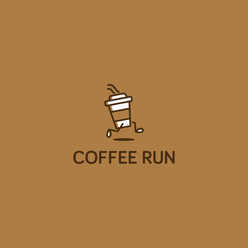Fast logo with the title 'Coffee Run Logo'