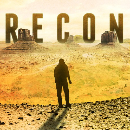 Post-apocalyptic book cover with the title 'Recon - Book cover'