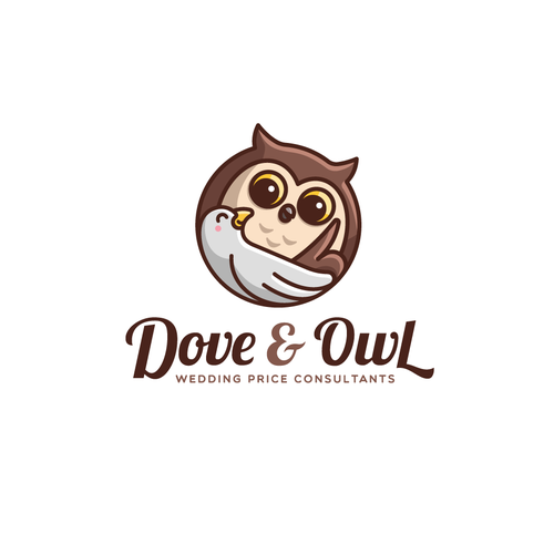 Owl logo with the title 'Dove & Owl Logo'
