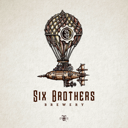 Port logo with the title 'Six Brothers Brewery'