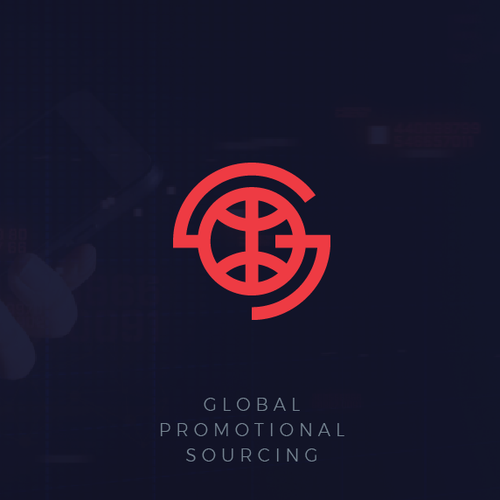 Global logo with the title 'Global business logo '