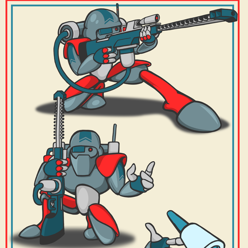 Inkscape design with the title 'Cyber warfare soldier'