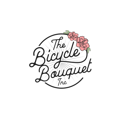 Flower shop logo with the title 'The Bicycle Bouquet Inc.'