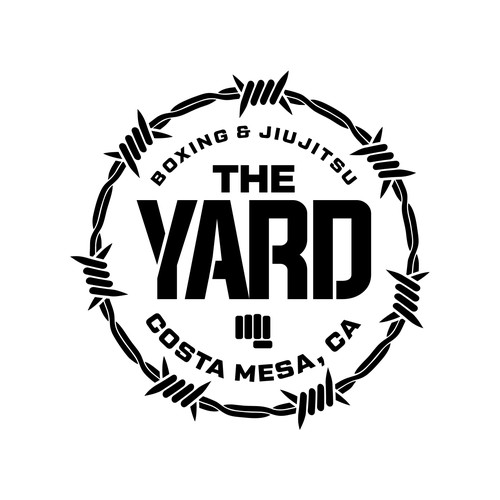 Lawn care logo with the title 'Winner of The Yard Boxing Gym'