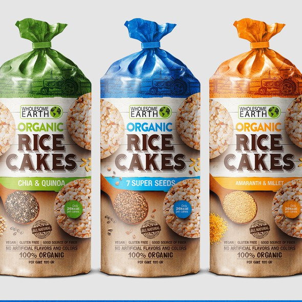 Rice design with the title 'Rice Snack'