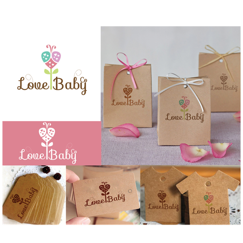Baby and heart logo with the title 'Love Baby'