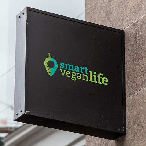 Vegetarian logo with the title 'Logo for Smart Vegan Life'