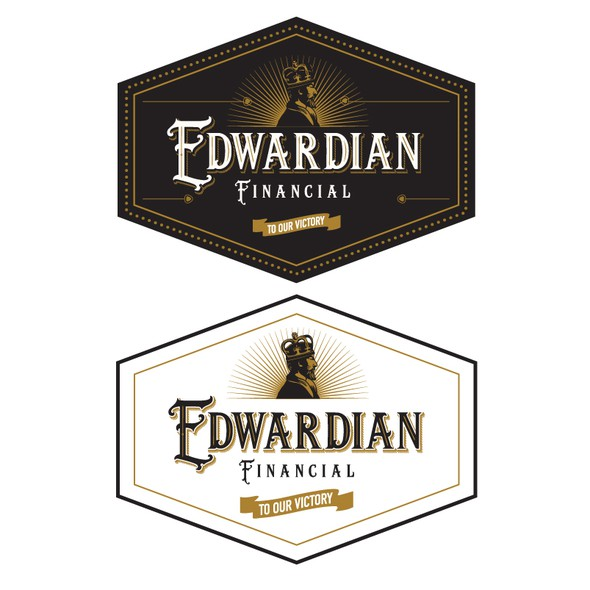 Black crown logo with the title 'Edwardian Financial'