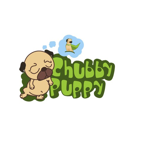 Small logo with the title 'puppy sleeps'