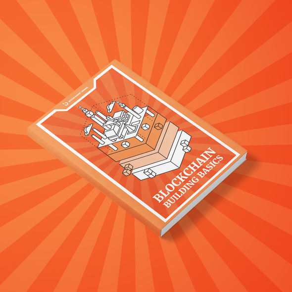 Interactive PDF design with the title 'Blockchain Building Basics  Book Design'