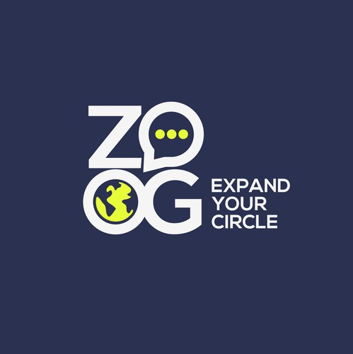 Globe design with the title 'Logo Design for ZOOG'