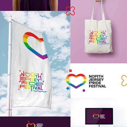Gay design with the title 'North Jersey Pride Fesitval'