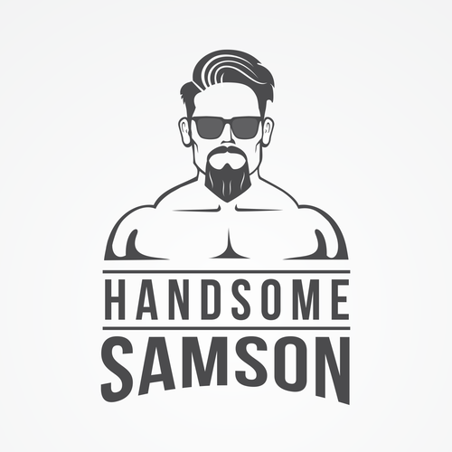 Glasses design with the title 'Logo for Handsome Samson'