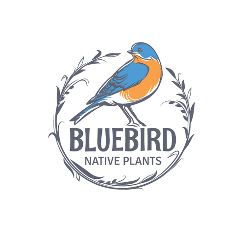 Horticulture logo with the title 'Logo design, bird logo for garden company'