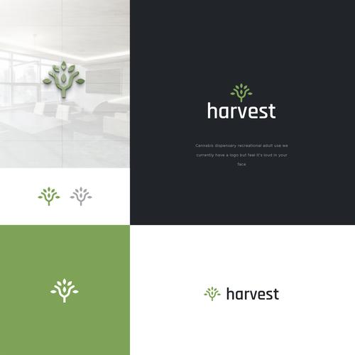 Leaf design with the title 'harvest'