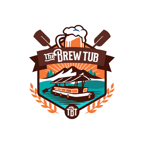 Lake logo with the title 'The Brew TUB'