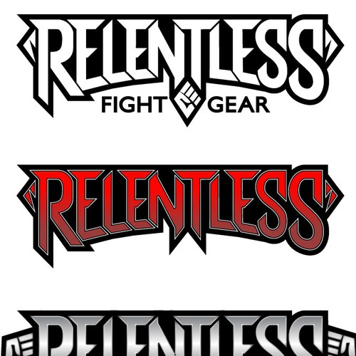 Fight logo with the title 'Create an amazing logo for Relentless Fight Gear!'