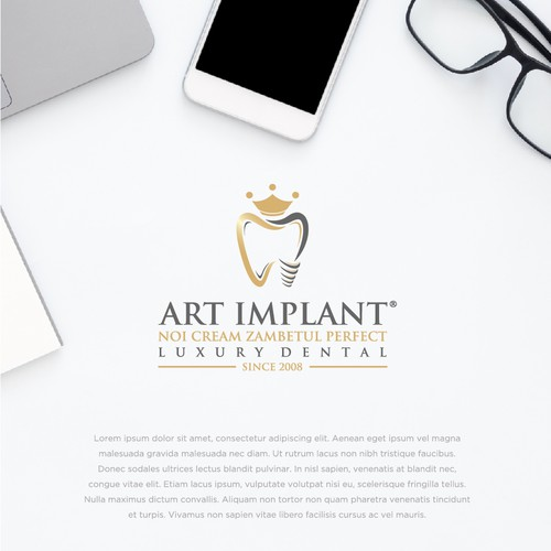 Dental logo with the title 'Logo design contest winner'