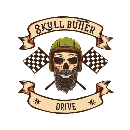 Skeleton design with the title 'Drive'