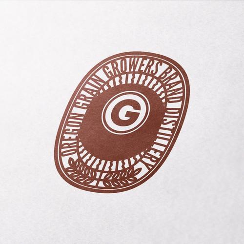Grain logo with the title 'Brand new Oregon distillery'