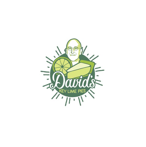 Pie logo with the title 'David's logo design concept'